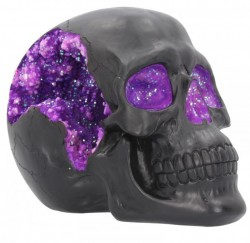 Picture of Geode Black Skull Ornament