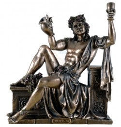 Picture of Bacchus Sitting God of Wine Bronze Statue