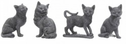 Picture of Lucky Black Cat Figurines Set of 4