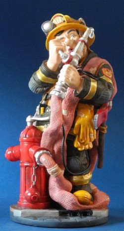 Picture of Fireman Figurine 33cm Profisti