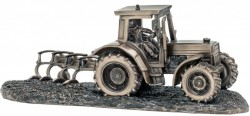Picture of Tractor and Plough Bronze Ornament 32 cm