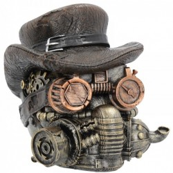 Picture of Desert Warrior Steampunk Skull Ornament 16cm