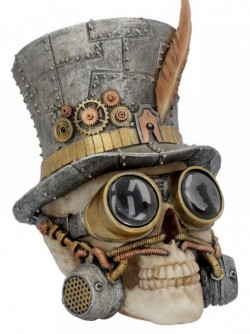 Picture of Count Archibald Top Hat Steampunk Skull Ornament 19cm