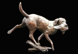 Picture of Working Labrador Bronze Figurine (Limited Edition) Michael Simpson