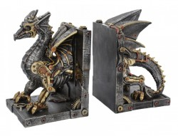 Picture of Dracus Machina Steampunk Dragon Bookends
