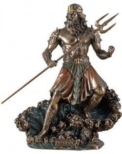 Picture of Poseidon God of the Sea Bronze Figurine 20 cm