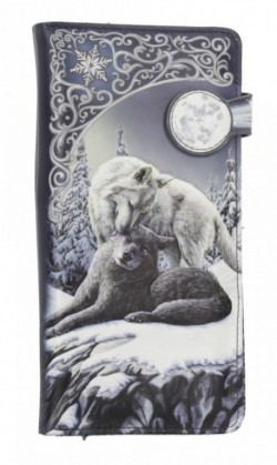 Picture of Snow Kisses Embossed Wolf Purse (Lisa Parker) 18cm