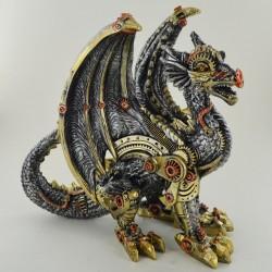 Picture of Steampunk Dragon Guard Figurine