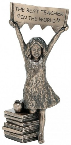 Picture of Best Teacher (Girl) Bronze Figurine