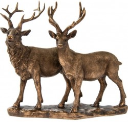 Picture of Bronzed Stag and Deer Figurine (Leonardo Collection) 25 cm