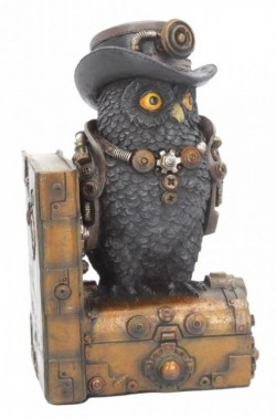 Picture of Augmented Wisdom Steampunk Owl Bookend Figurine