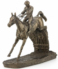 Picture of Clearing The Last Horse Racing Figurine Medium (David Geenty)