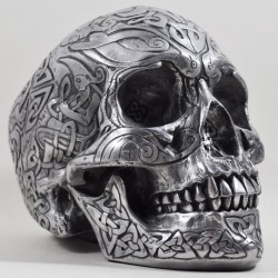 Picture of Heavyweight Celtic Skull Gun Metal Finish Large