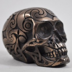 Picture of Bronze Celtic Design Small Skull