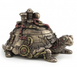 Picture of Steampunk Turtle Figurine Box Bronze