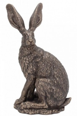 Picture of Sit Tight Alert Hare Bronze Figurine (Andrew Bill)