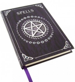 Picture of Embossed Spell Book Purple