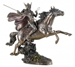 Picture of Valkyrie Riding Horse Bronze Statue 32cm