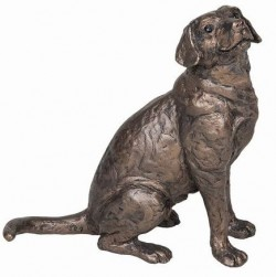 Picture of Harry Labrador Sitting Bronze Sculpture (Frith)