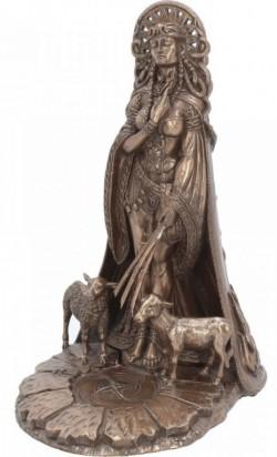 Picture of Brigid Bronze Figurine Pagan Goddess