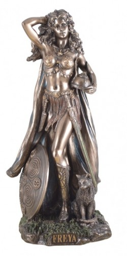 Picture of Freya Bronze Statue 27 cm