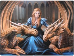 Picture of Fierce Loyalty Canvas Dragon Picture (Anne Stokes) 25 x 20 cm