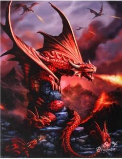 Picture of Fire Dragon Canvas Picture (Anne Stokes) 25 x 20 cm