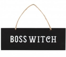 Picture of Witch Boss Wall Sign