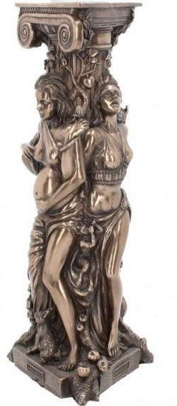 Picture of Maiden Mother and Crone Tealight Holder Triple Goddess