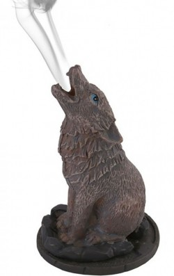 Picture of Wolf Incense Cone Holder by Lisa Parker