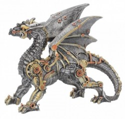 Picture of Dracus Machina Steampunk Dragon Small Figurine 20cm