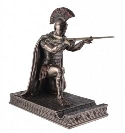 Picture of Roman Centurion Kneeling Bronze Figurine with Letter Opener Sword