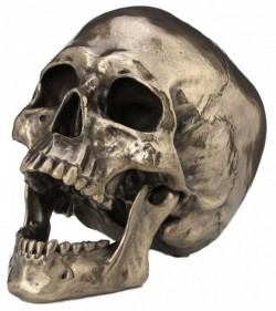 Picture of Skull with Movable Jaw Bronze Heavyweight Ornament