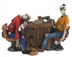 Picture of Poker Game Skeleton Figurine