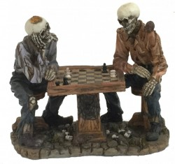 Picture of Skeletons Playing Chess Figurine