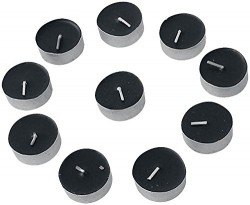 Picture of Set of 10 tealights Black