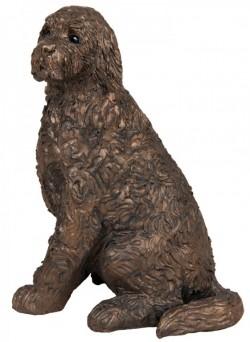Picture of Jessie Cockapoo Sitting Bronze Figurine Paul Jenkins
