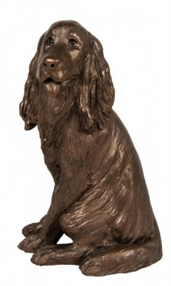 Picture of Sam Cocker Spaniel Sitting Bronze Figurine Paul Jenkins