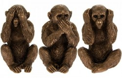 Picture of Three Wise Monkeys Ornaments Leonardo Collection