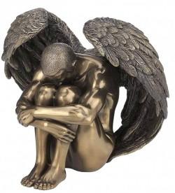 Picture of Male Angel Sorrow Bronze Figurine