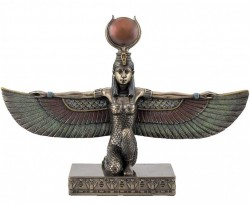 Picture of Egyptian Winged Isis Kneeling Figurine