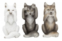 Picture of Three Wise Wolves Ornaments
