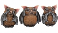 Picture of Three Wise Bats Ornaments