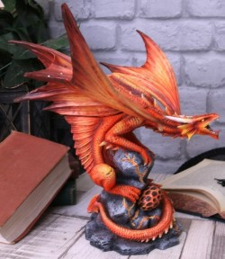 Picture of Adult Fire Dragon Figurine (Anne Stokes)