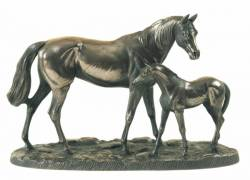 Picture of Mare and Foal Sculpture (Large)