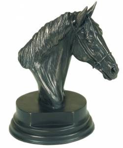 Picture of Horse Head Sculpture on Plinth (Small)