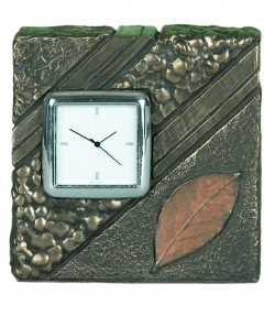 Picture of Autumn Leaf Bronze Clock (Small)