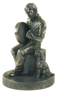 Picture of Bodhran Player Bronze Figurine