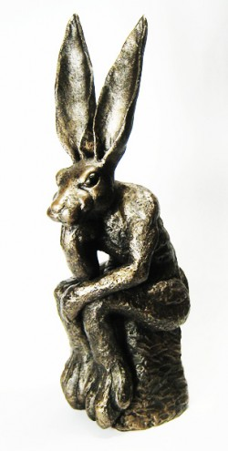 Picture of The Thinker Hare Sculpture (Old Masters)