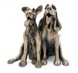 Picture of Tom and Fred Dogs Sculpture